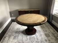 5' round solid polish granite with matching hutch over 4000 brand new Milton, L9T 5V4