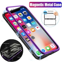 Metal Magnet Frame Class Back Case for iPhone Richmond Hill