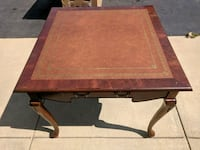 Table with leather top La Plata, 20646