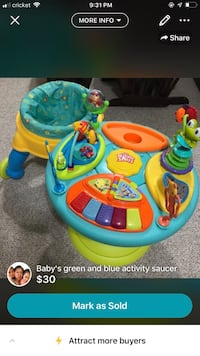 baby's blue and green activity center Germantown, 20874