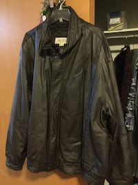 black leather zip-up jacket Muskegon, 49445