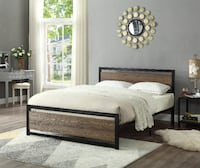 BRAND NEW WOOD PANEL HEADBOARD WITH STEEL BASE TORONTO