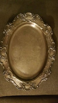 Towle Silver plate Flower Acanthus oval platter  Augusta, 30907