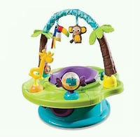 baby's green and blue activity saucer Langley, V3A 3X4