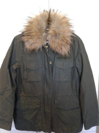 Winter Jacket Green Army,  H & M for Woman. Oakville