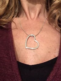 Sterling Silver Adjustable Necklace with Heart Pendant  Stafford, 22556