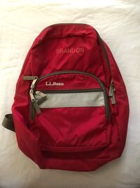 red and black LLBeanbackpack for kids Gaithersburg, 20877