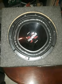 black and gray Xplod subwoofer Fall River