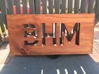 BHM Wood Sign w/hanger Birmingham, 35215