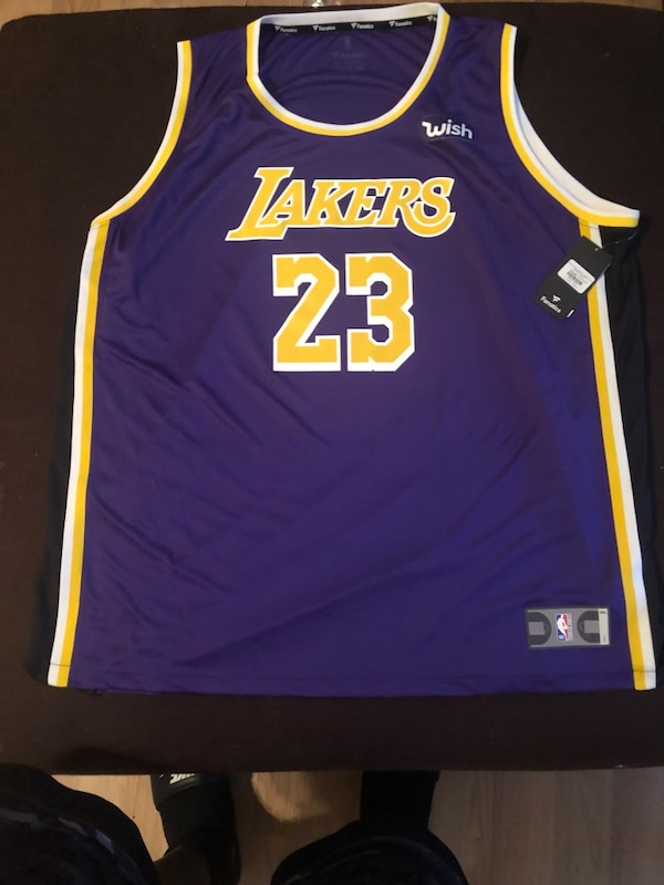 06ed4788bc01 Used 3x Lebron James lakers jersey brand new tag still on it for sale in  Marietta - letgo