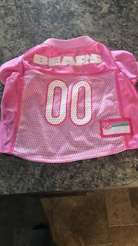 Pink chicago bears 00 jersey, size small