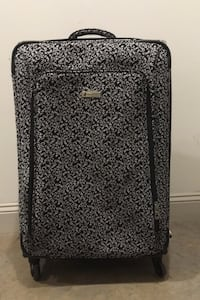 Black and white suitcase