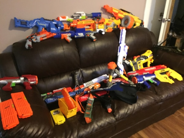 Massive Nerf Gun Lot