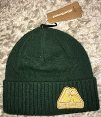 New Patagonia Green Live Simply Beanie Winer Hat Ski Cap Chicago, 60611