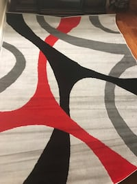 black, white, and red area rug Columbus, 43235