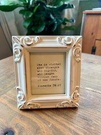 Cute Framed Typewritten Bible Verse