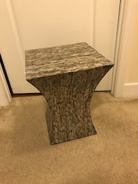 Marble-like end table (2) Jessup, 20794