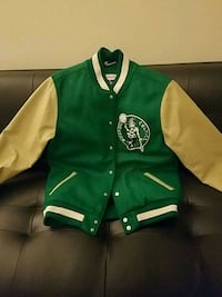 Mitchell and Ness official Celtics leather and wool jacket