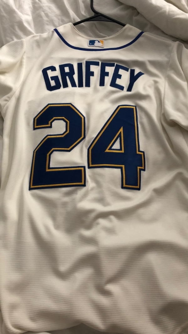 reputable site 0280a 86ebe Cream ken Griffey jr jersey