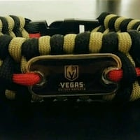 "GOLDEN KNIGHTS PARACORD BRACELET 9"" Las Vegas, 89119"