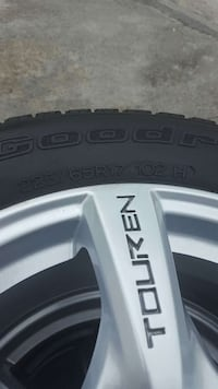 Set of 4 tires on rims.  Port Perry, L9L 1H4