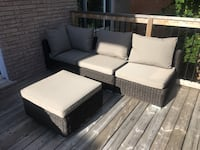 Brown wicker patio sectional furniture