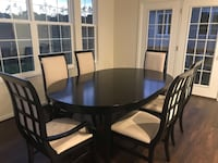Round black wooden table with four chairs dining set Dumfries, 22193