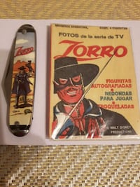 "VINTAGE ""ZORRO"" POCKET KNIFE AND TRADING CARDS"