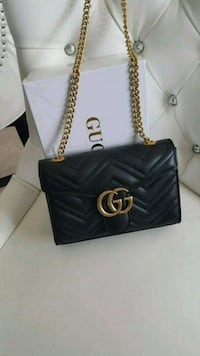black Gucci  leather tote bag Mississauga, L5T 2L8