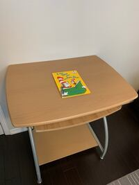 Brown wooden desk with gray metal base Mississauga, L5L 5E2