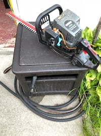 black and red pressure washer