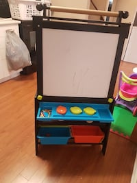 black and blue dry erase board with storage Mississauga, L4Y 2Y2