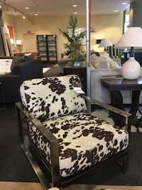 white and black floral sofa chair Rockville, 20852