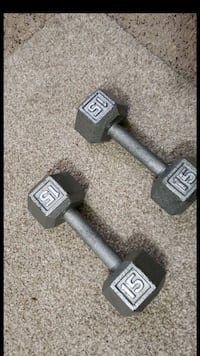 pair of gray fixed weight dumbbells Baltimore