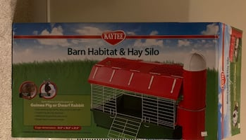 Kay Tee Barn Habitat and Hay Silo for guinea pig or Little Bunny.