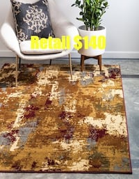 Brand New Coffee Shop Collection 5ftx8ft Area Rug