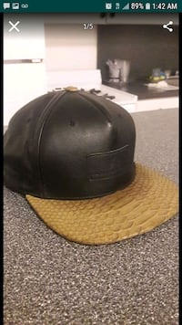 Leather hat with Snakeskin Miami, 33125
