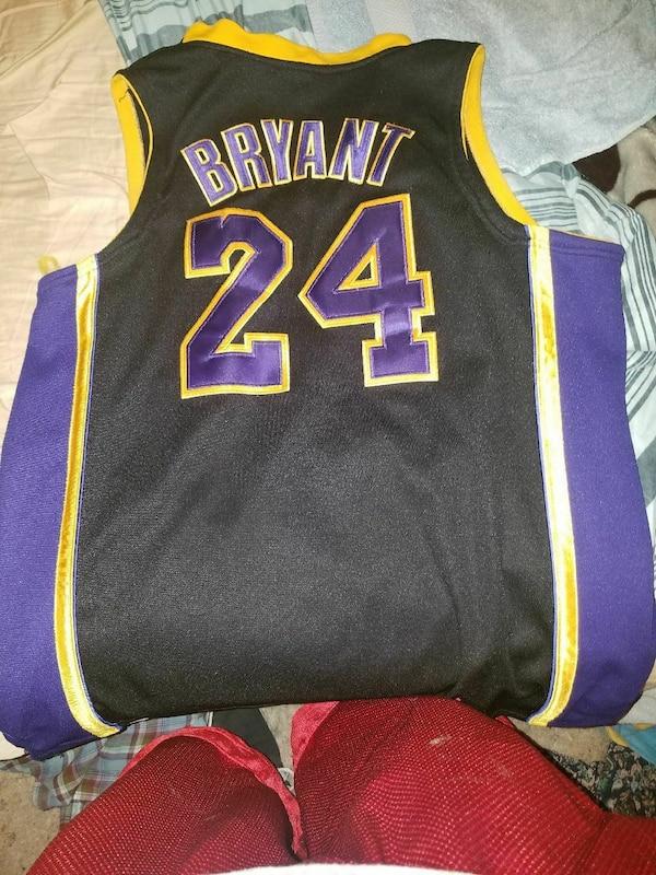 880e839c282e Used black and purple Kobe Bryant number 24 jersey for sale in ...