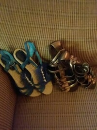 two pairs of black and blue sandals Lynchburg, 24501