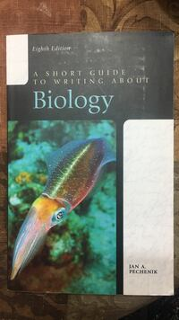 A short guide to writing about biology by jan a. pechenik book