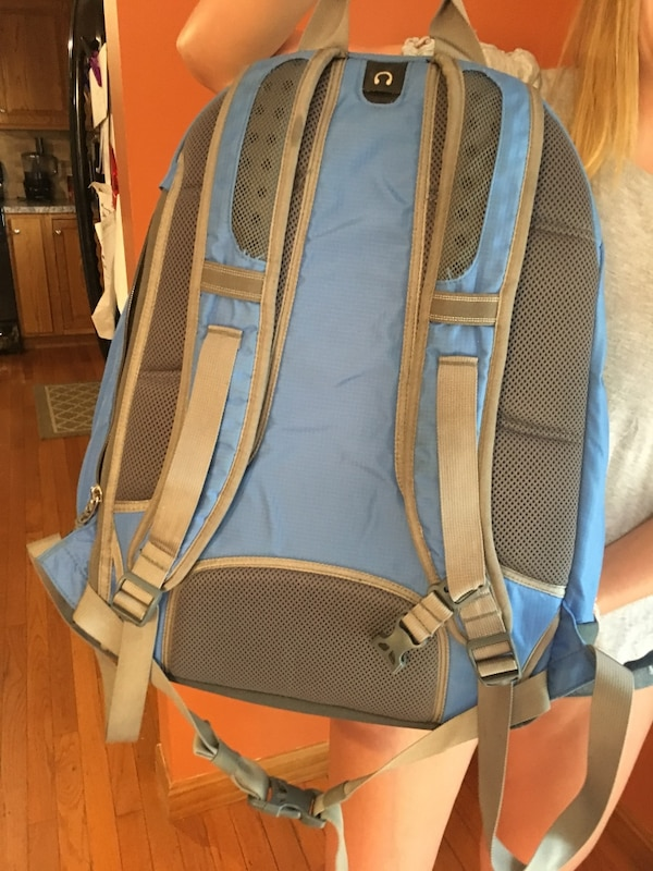 Used LL bean grey and blue XL backpack for sale in Jersey Shore - letgo c1552a62b23dd