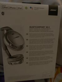 white and gray Bose wireless headphones box Toronto
