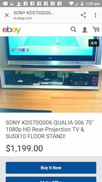 "70"" gray Sony KDS70Q006 rear projection TV with re District Heights, 20747"