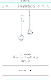 Great deal! Tiffany Elsa Peretti earrings , original pouch and box