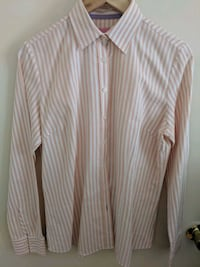 Charles Tyrwhitt London Wmns US10 Pink White Shirt