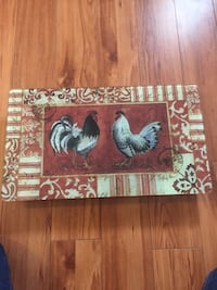Rooster cutting board.