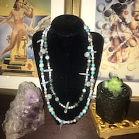 """22"""" two-toned multi precious stone necklace (favorite piece I've ever made by far) Seattle, 98107"""