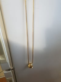 14k gold ring and chain