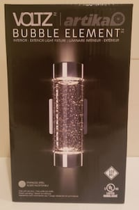 VOLTZ Bubbled Glass LED Wall Sconce Light - Stainl Coquitlam