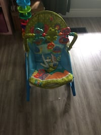 Green, blue, and red bouncer seat Brampton, L6T 1P5